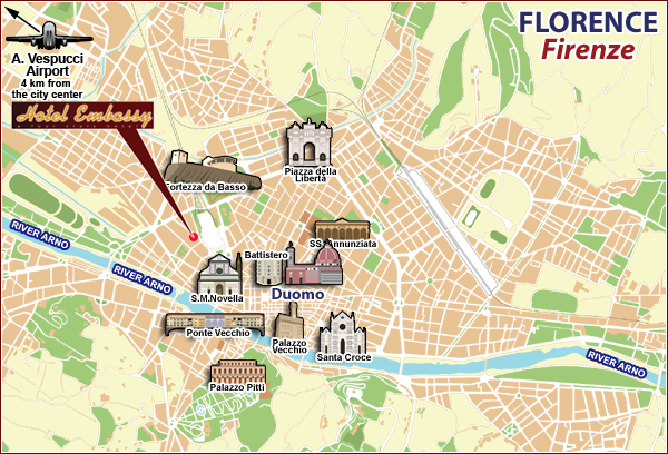 Hotel Embassy Location Florence Hotels Italy Hotels